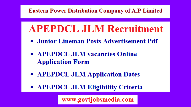 APEPDCL JLM Recruitment Notification