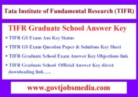 TIFR GS Answer Key