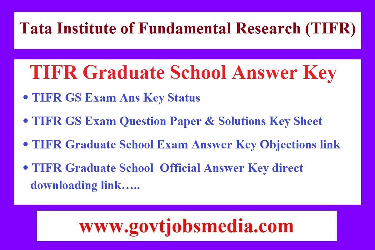 TIFR GS Answer Key