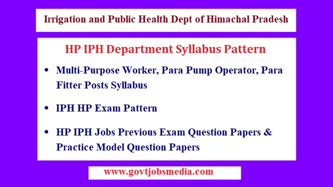 HP IPH Department Syllabus