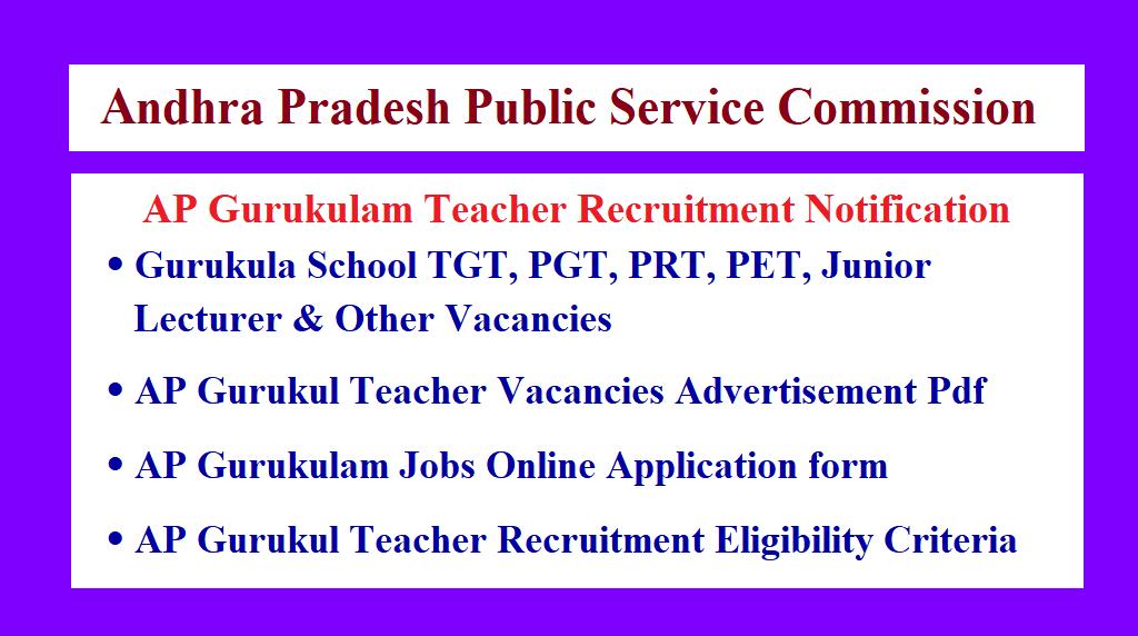 AP Gurukula Teacher Notification