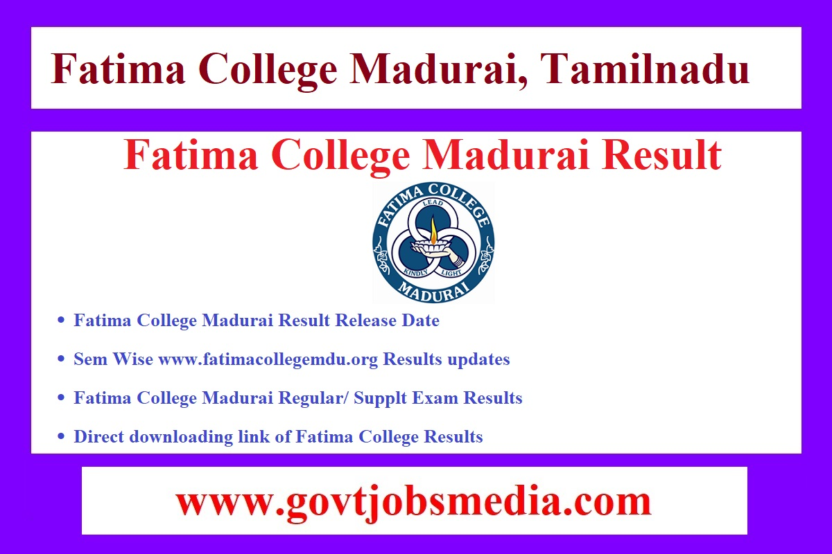 Fatima College Madurai Result