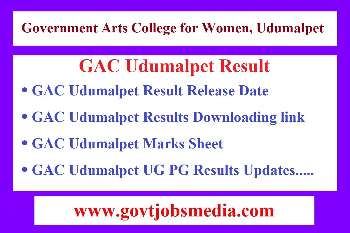 GAC Udumalpet Result