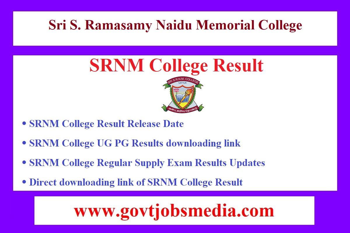 SRNM College Result