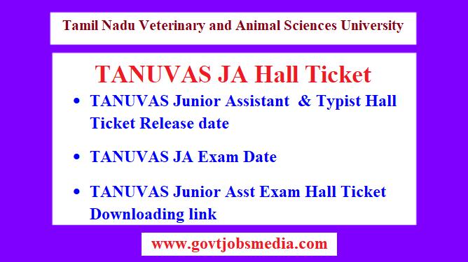 TANUVAS JA Hall Ticket