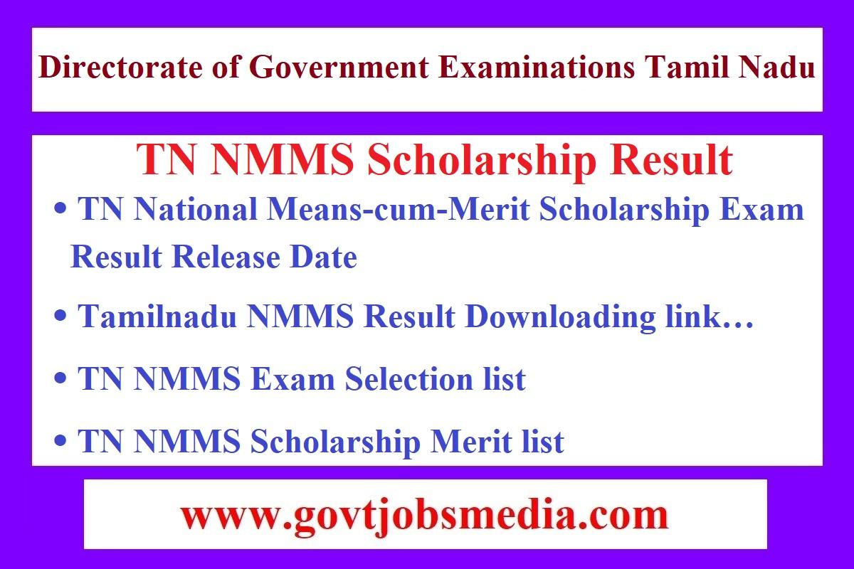 Tamilnadu NMMS Result