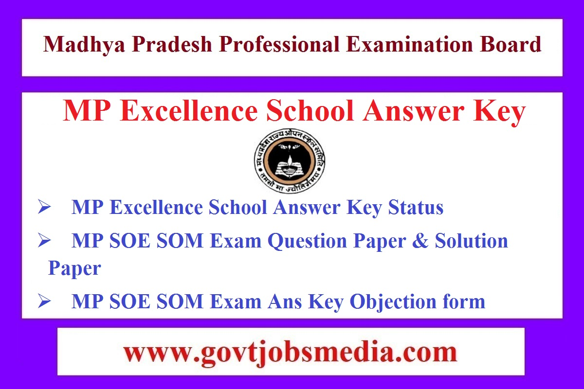 MP Excellence School Answer Key