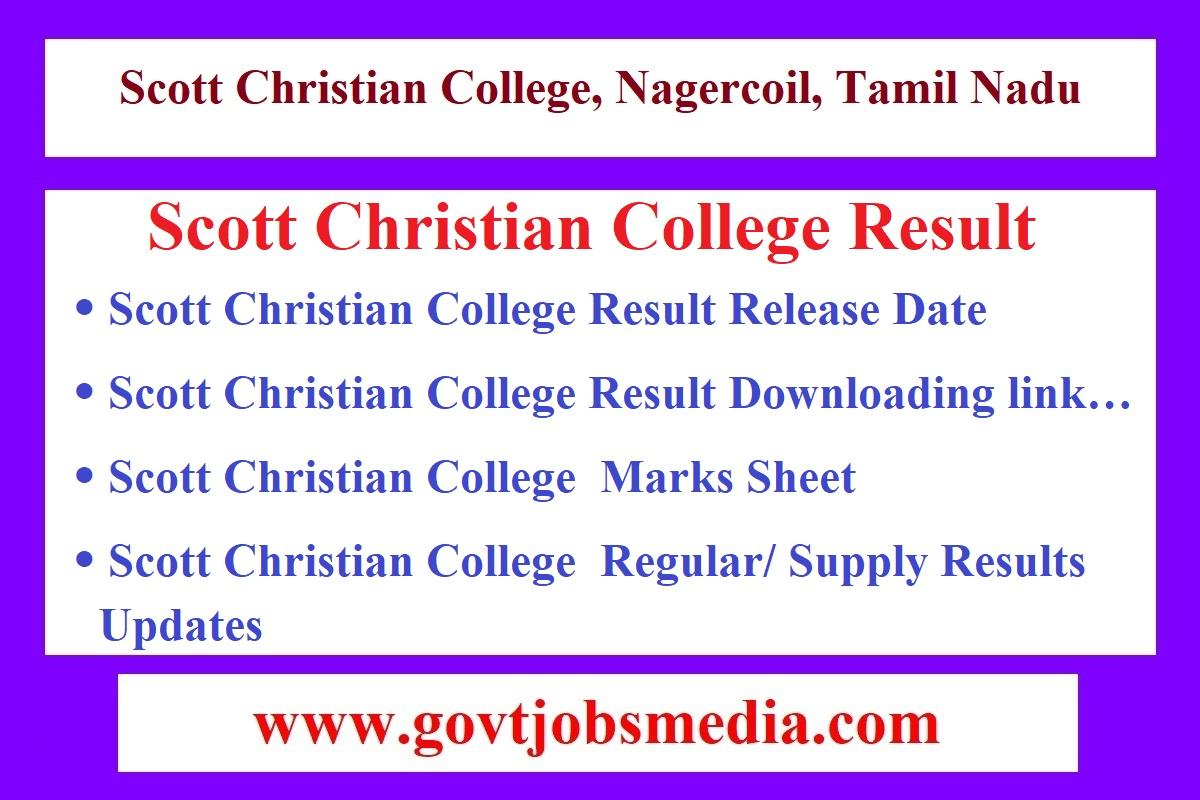 Scott Christian College Result