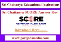 Sri Chaitanya SCORE Answer Key