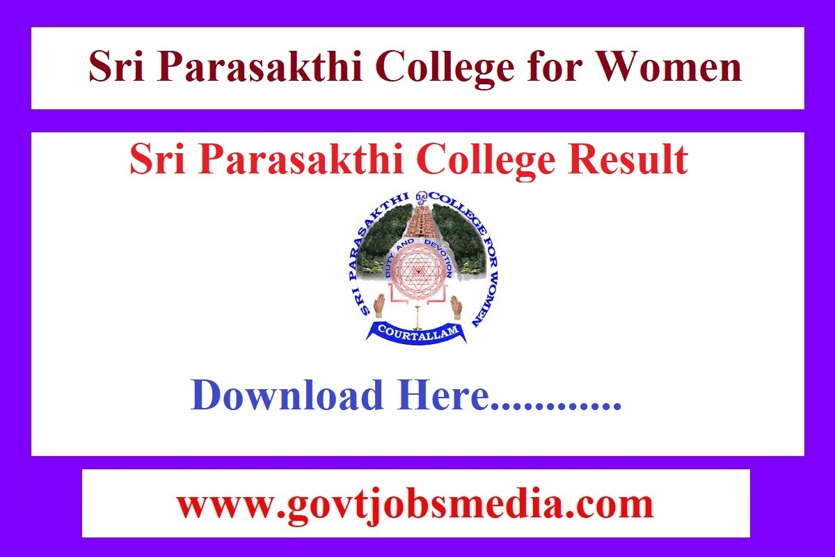Sri Parasakthi College Result