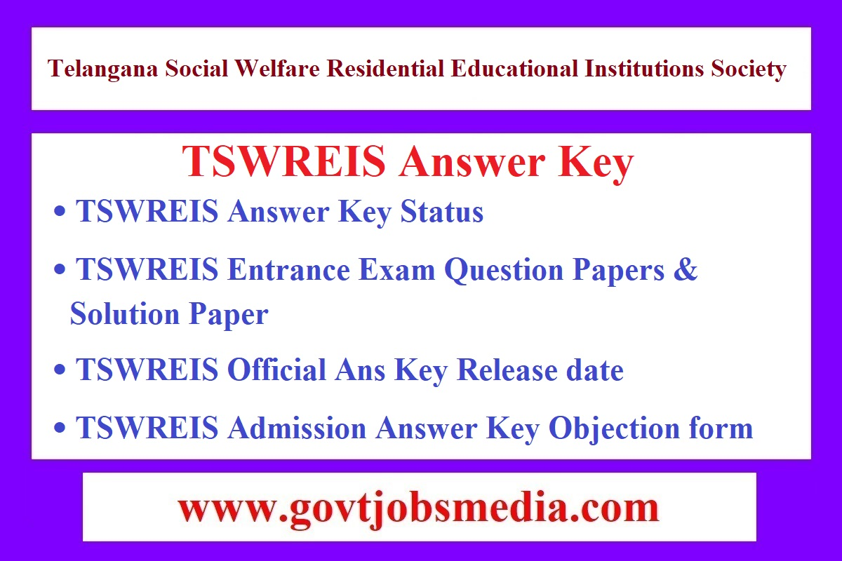 TSWREIS Answer Key
