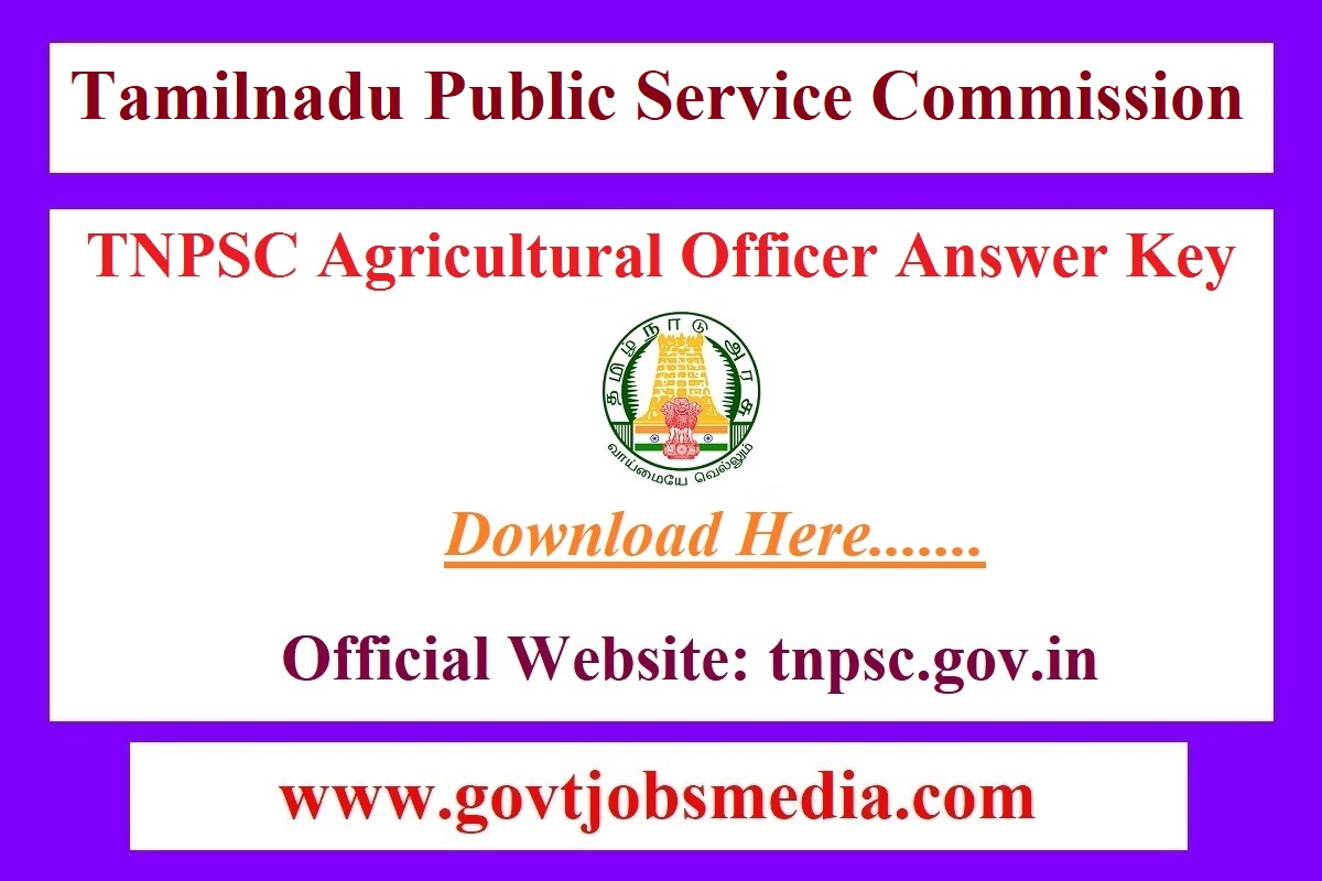 TNPSC Agricultural Officer Answer Key