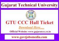 GTU CCC Exam Hall Ticket