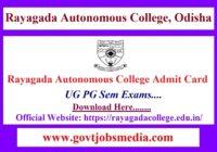 Rayagada Autonomous College Admit Card