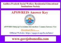 APSWREIS Answer Key