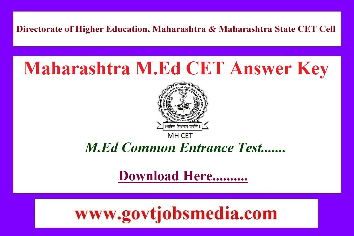 Maharashtra M.Ed CET Answer Key