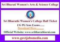 Sri Bharathi Womens College Hall Ticket